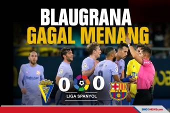 Hasil La Liga Spanyol: Barcelona Gagal Menang di Markas Cadiz