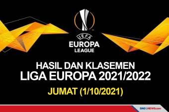 Hasil Pertandingan dan Klasemen Liga Europa, Jumat (1/10/2021)