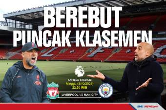 Preview Liverpool vs Manchester City: Perebutan Puncak Klasemen