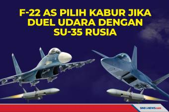 F-22 AS Pilih Kabur Jika Duel Udara dengan Su-35 Rusia