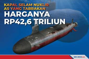 Kapal Selam nuklir AS yang Tabrakan, Harganya Rp42,6 Triliun