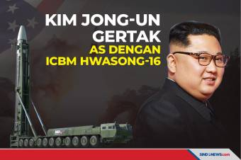 Kim Jong-un Gertak AS dengan Hwasong-16