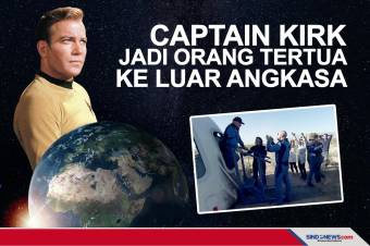 Pemeran Captain Kirk Jadi Orang Tertua di Dunia ke Luar Angkasa