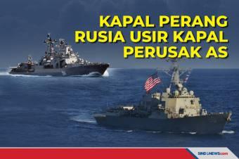 Kapal Perang Rusia Usir Kapal Perusak Amerika Serikat