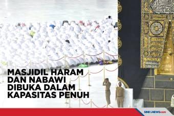 Masjidil Haram dan Nabawi Kembali Dibuka dengan Kapasitas Penuh