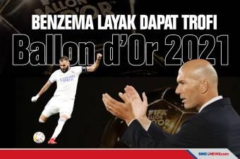 Zinedine Zidane: Benzema Layak Mendapat Trofi Ballon d'Or 2021