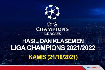 Hasil Lengkap Pertandingan Liga Champions, Kamis (21/10/2021)