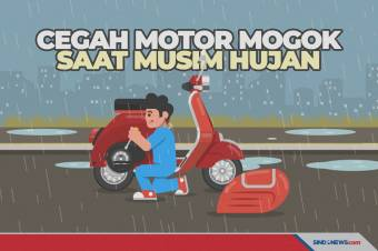 Tips Mencegah Motor Mogok saat Berkendara di Musim Hujan