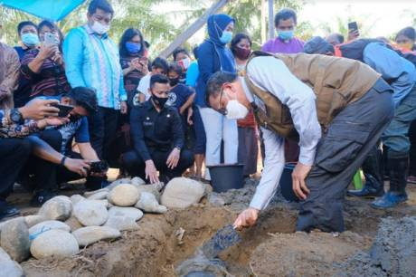 50 Huntap untuk Korban Banjir Bandang di Luwu Utara Mulai Dibangun
