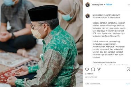 Wali Kota Parepare Taufan Pawe Positif Covid-19