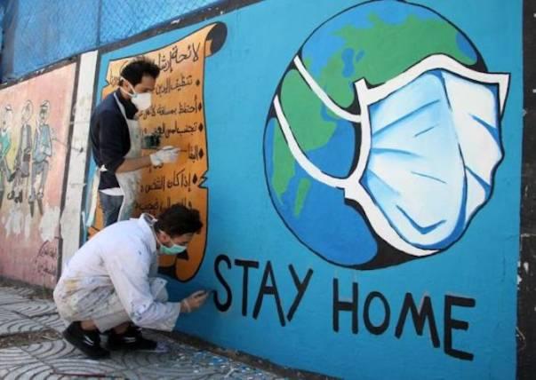 Solidaritas Hadapi Virus Corona, Para Seniman Sampaikan Pesan lewat Grafiti
