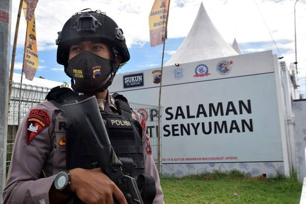 Antisipasi Teror, Pospam Lebaran Dijaga Brimob dan TNI