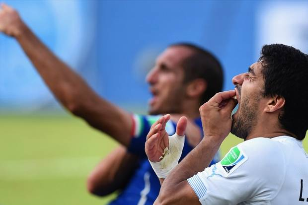 Chiellini Nikmati Gigitan Suarez di Piala Dunia 2014