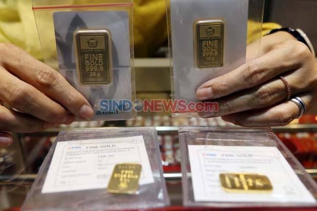 Harga Emas Antam Naik Rp6.000 Per Gram Saat Emas Dunia Menyusut