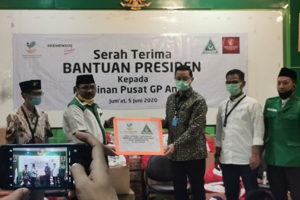 GP Ansor Apresiasi Mensos Gandeng OKP-Ormas Salurkan Bansos COVID-19