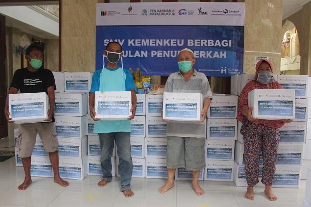 Peduli Corona, Kemenkeu Bersama Human Initiative Bagikan APD dan Sembako
