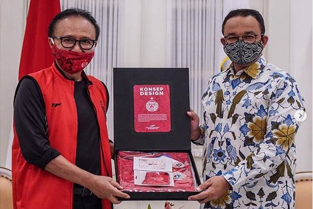 Doa Pemain Persija di HUT Jakarta Ke-493