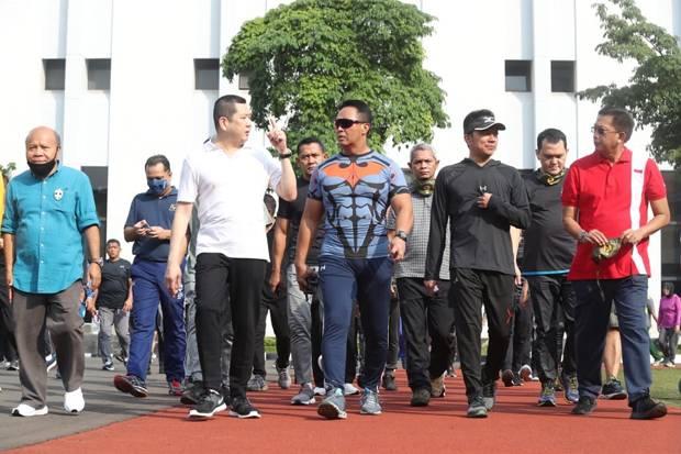 HT Olahraga Bersama KSAD Jenderal TNI Andika Perkasa di Mabesad