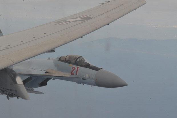 Angkatan Udara Rusia Cegat Pesawat Mata-mata AS di Laut Hitam