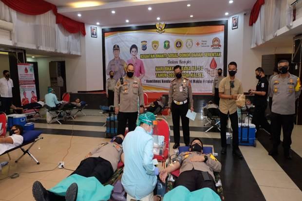 Penuhi Stok Darah PMI, Polri Sumbangkan 29.722 Kantong Darah