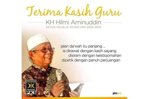 KH Hilmi Aminuddin Wafat, PKS Berduka