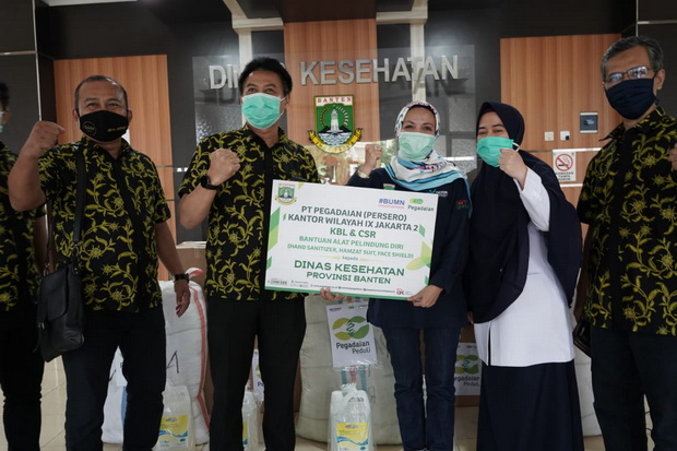 Pegadaian Beri Bantuan APD ke Dinas Kesehatan Provinsi Banten