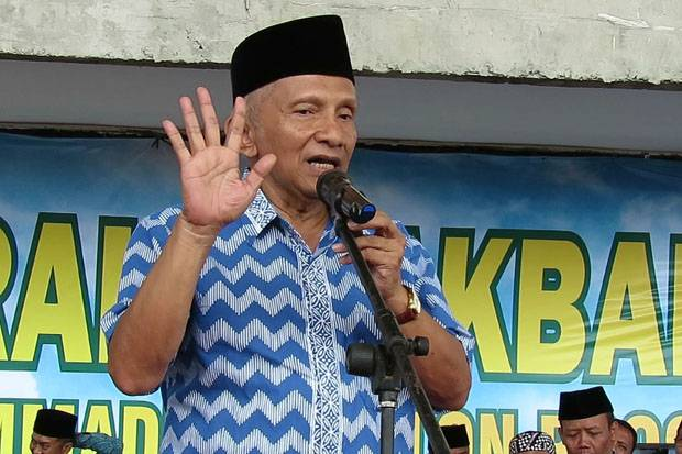 Amien Rais Duga Jokowi Sedang Bermain Sandiwara Politik