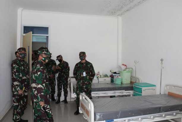Pangdam Hasanuddin Resmikan Gedung Khusus Pasien COVID-19 di RS Ismoyo