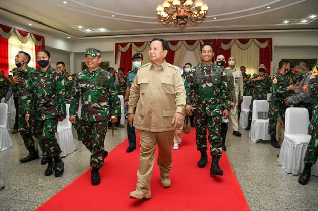 Jenderal Andika Dampingi Prabowo Kunjungi Akademi Militer Magelang