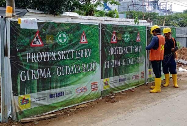 Pandemi Tak Halangi Pembangunan Jaringan Transmisi Bawah Tanah di Makassar