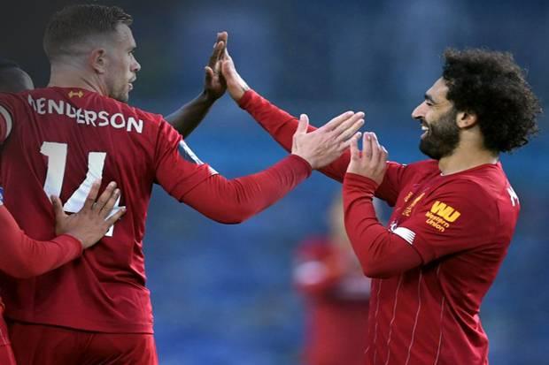 Gol Kilat Salah dan Henderson Akhiri Kutukan Liverpool di Laga Tandang