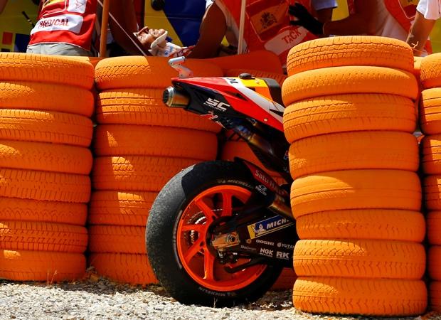 Lengan Kanan Marquez Patah akibat Kecelakaan di Sirkuit Jerez