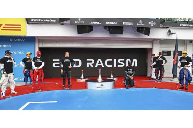 Hamilton Tak Puas Aksi Tolak Rasisme di Hungaroring