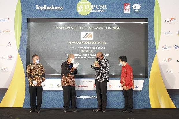 MDLN Sabet Penghargaan Top CSR, Modernland Ingin Kiprahnya Kian Dirasakan...