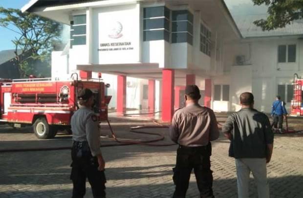 Usut Penyebab Kebakaran Kantor Dinkes Sulsel, Polisi Tunggu Hasil Labfor
