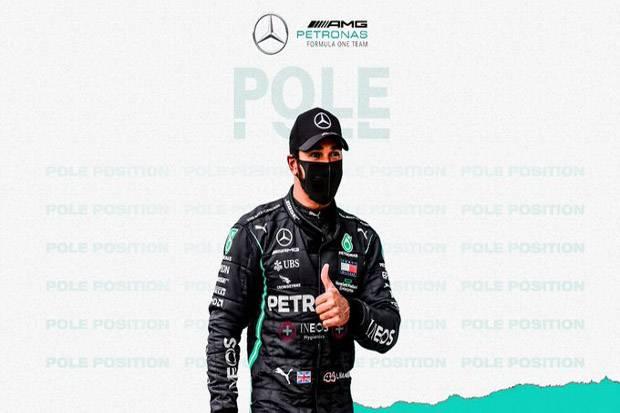 Raih Pole Position, Lewis Hamilton Jaga Dominasi di GP Inggris