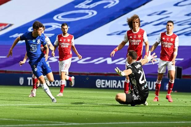 Gol Kilat Pulisic Dibalas Penalti Aubameyang