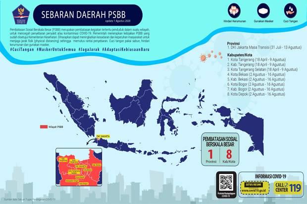 Satu Provinsi dan 8 Kabupaten/Kota di Tanah Air Masih Terapkan PSBB