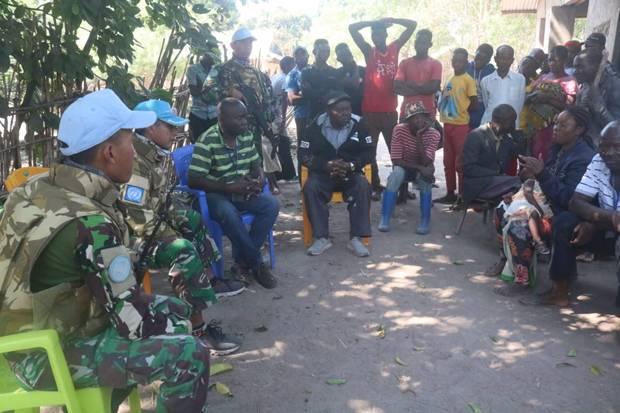 Prajurit TNI Evakuasi Korban Penghadangan Bandit Bersenjata di Kongo