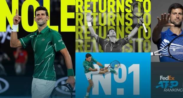 Nadal dan Federer Absen, Djokovic Sendirian Lawan Serbuan Darah Muda