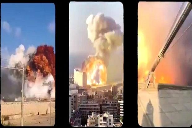 Ngerinya Ledakan 2.750 Ton Amonium Nitrat di Beirut: Serasa Bom Hiroshima