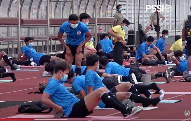 Intip Porsi Latihan Timnas Indonesia di Bawah Protokol Kesehatan