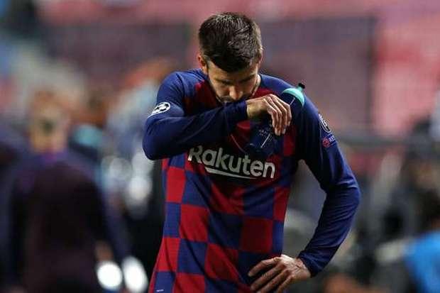 Biarkan Gawang Barcelona Dibobol Bayern Delapan Kali, Pique Siap Jadi Tumbal