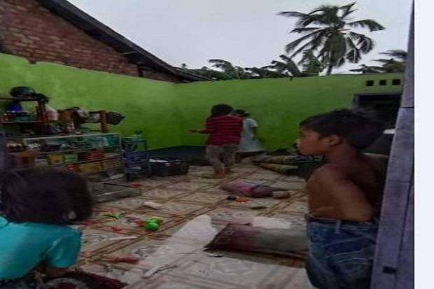 Puting Beliung Mengamuk di Batanghari Jambi, 3 Rumah Porak Poranda