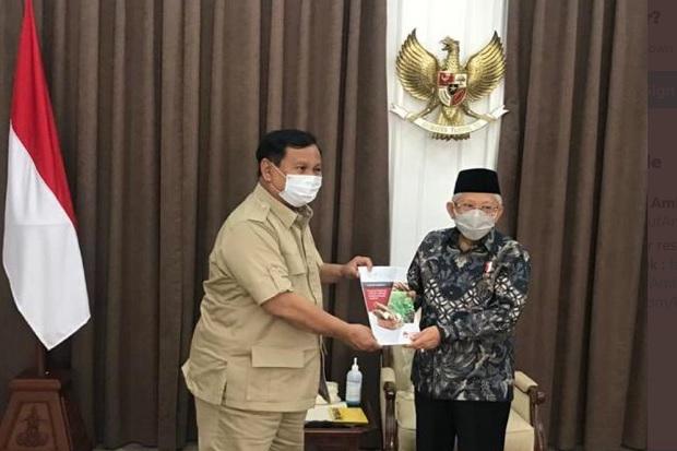 Prabowo-Ma'ruf Amin Bertemu Bahas Pembangunan Food Estate