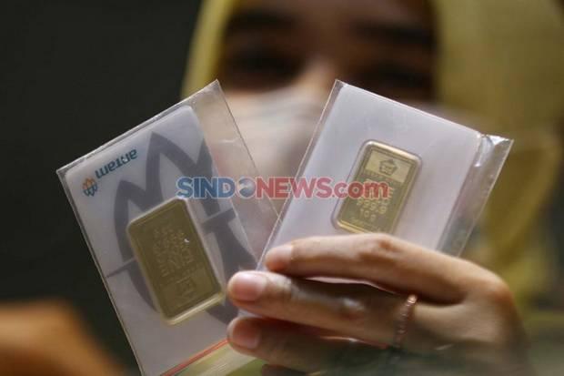 Harga Emas Antam Akhir Pekan Terus Berkilau, Masih di Atas Rp1 Juta/Gram