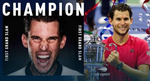 Dominic Thiem, Rekor, Sejarah Austria di Grand Slam US Open 2020