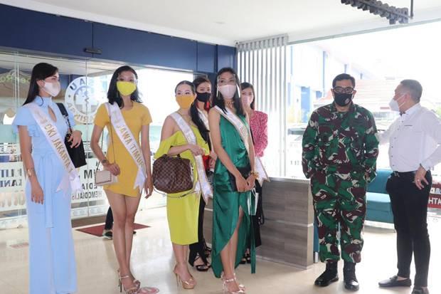 Finalis Miss Global Datangi RSAU dr Esnawan Antariksa