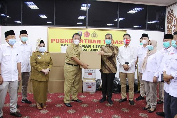 Gerindra Salurkan 5.000 Alat Tes PCR dan 6 Ventilator ke Pemprov Lampung