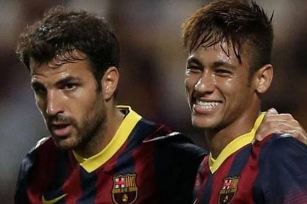 Neymar dan Fabregas Dukung Messi Semprot Dewan Direksi Barcelona
